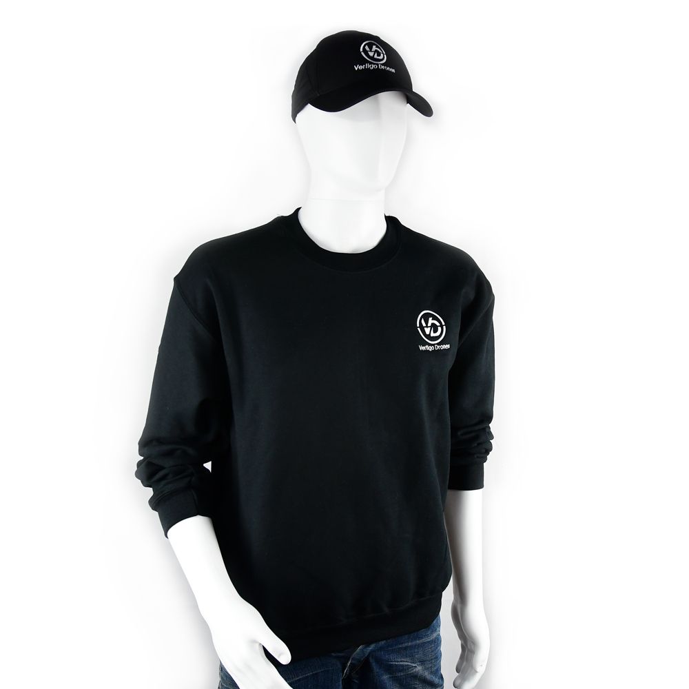 Vertigo Drones Crew Sweater (Black)