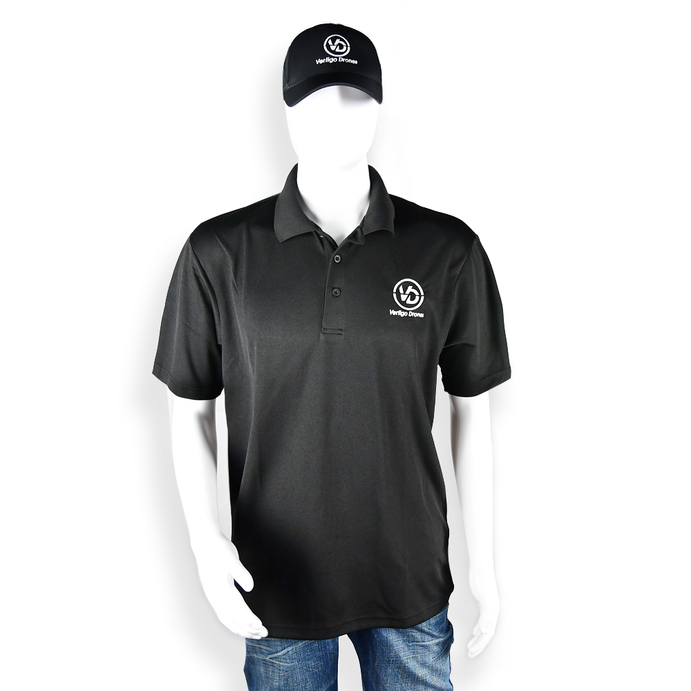 Vertigo Drones Polo (Black)