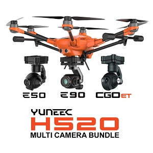 Yuneec H520 - Multi Camera Configurable Bundle (E50, E90, CGOET, FREE Weatherproof Hardcase)