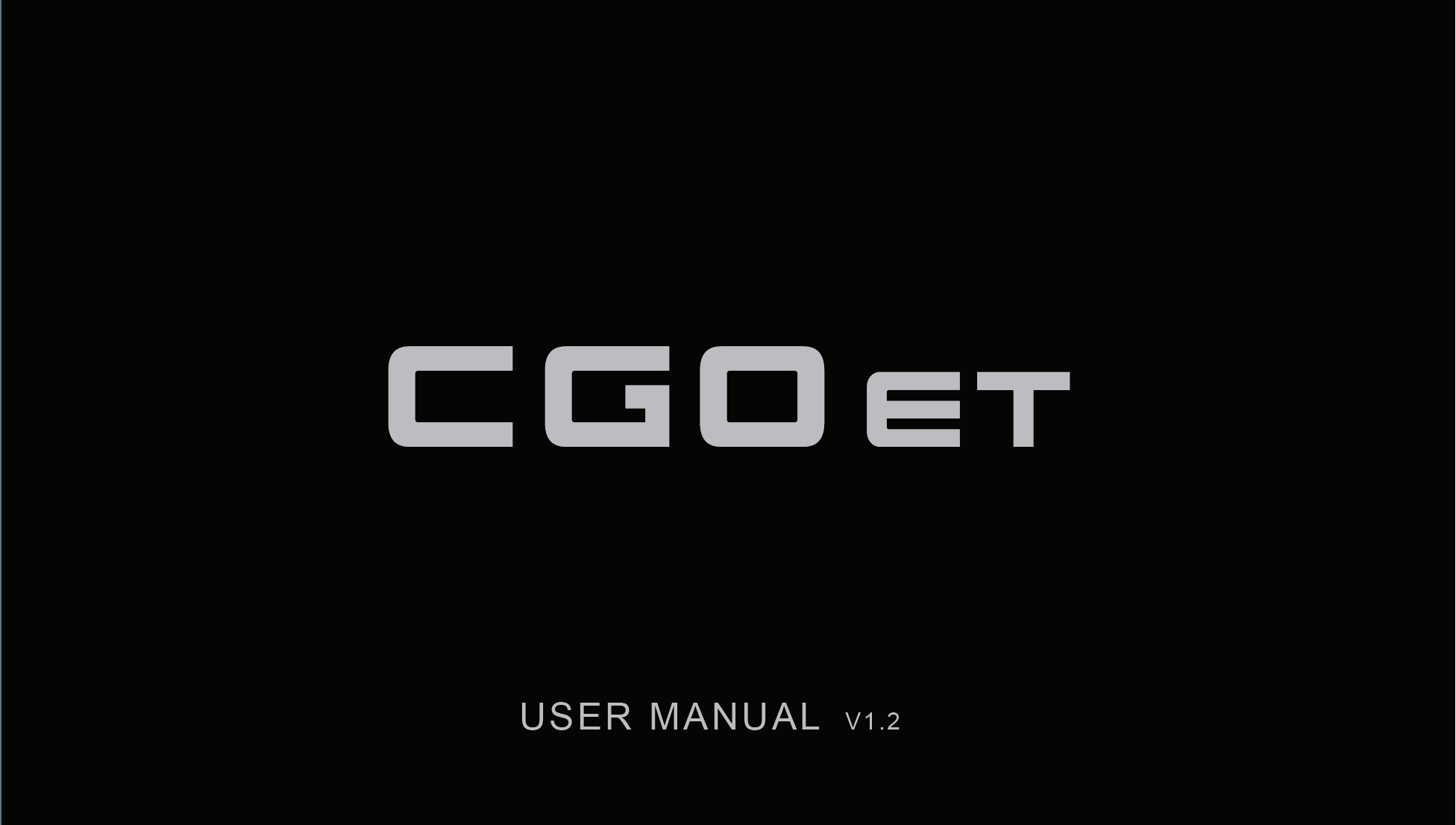 Yuneec CGOET User Manual