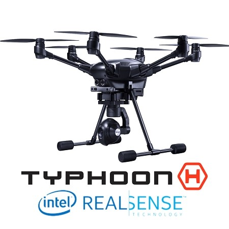 Typhoon H with RealSense, ST16, CGO3+, 2 Batteries (US Plug) and Backpack