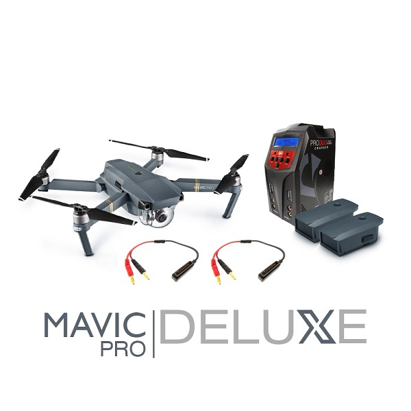 DJI Mavic Pro Deluxe Bundle (2 Batteries, Venom Pro Duo Charger with Charging Wires)