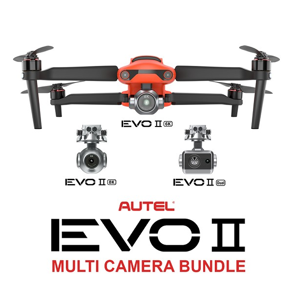 Autel EVO 2 Multi Camera Bundle with Range Extender