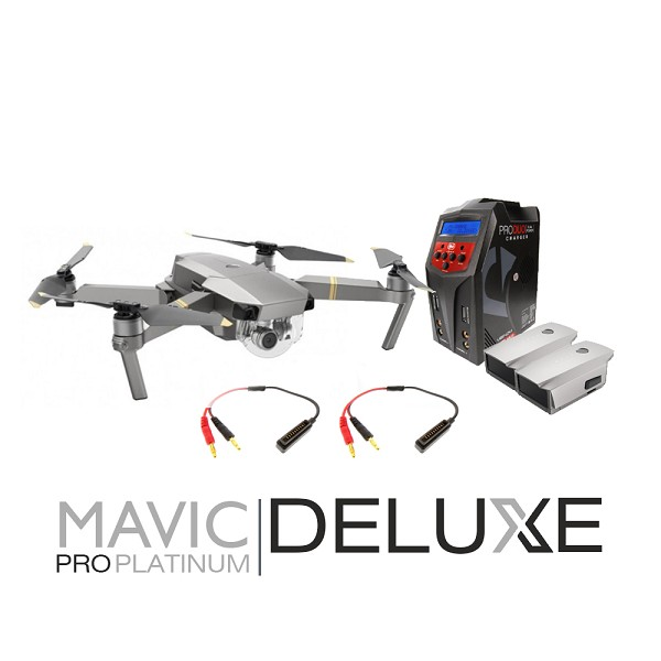 DJI Mavic Pro Platinum Deluxe Bundle (2 Batteries, Venom Pro Duo Charger with Charging Wires)