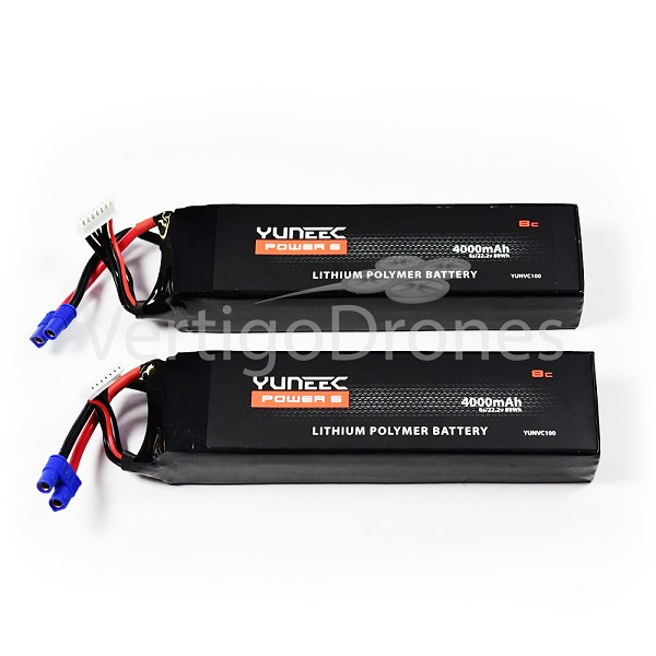 4000mAh 6-Cell / 6S 22.2V LiPo Battery(2 pcs): Yuneec H920