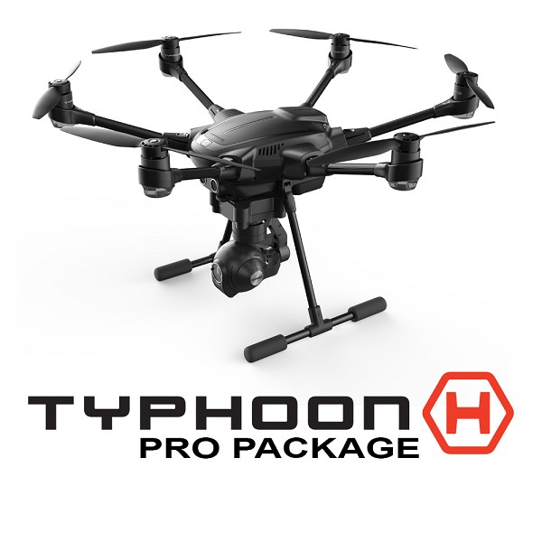 Yuneec Typhoon H Pro Package - ST16, CGO3+, 2 Batteries (US Plug) and Backpack